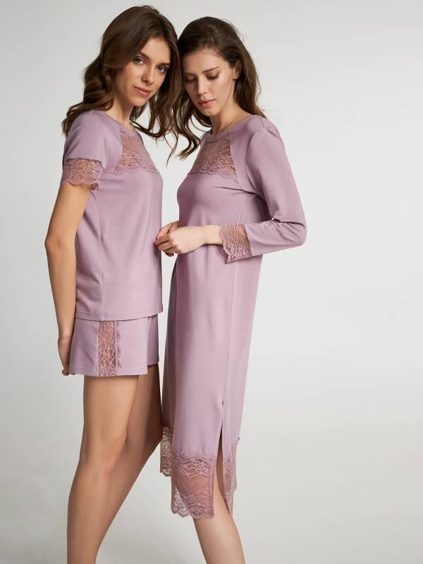 Нічна сорочка Silver pink